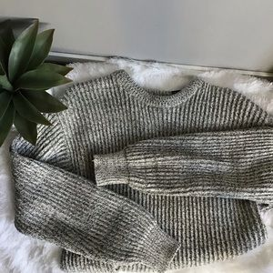 Vintage Gray Chunky Cozy Sweater